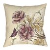 Thumbprintz Rosette Butterfly Printed Throw Pillow