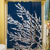 Thumbprintz Coastal Coral Shower Curtain