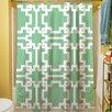 Thumbprintz Modern Geometric Mint Shower Curtain
