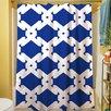 Thumbprintz Modern Geometric Sapphire Shower Curtain