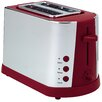 Prestige 2 Slice Stainless Steel Toaster in Red