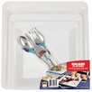 Fineline Settings, Inc Platter Pleasers Square Platter and Utensil Set (Set of 6)