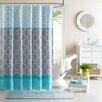 Intelligent Design Clara Microfiber Shower Curtain