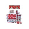 DK Leigh Red Graphic Floral 7 Piece Crib Bedding Set