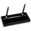 Dacasso 1000 Series Classic Leather Double Gold Pen Stand in Black