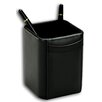 Dacasso 1000 Series Classic Leather Pencil Cup in Black
