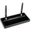 Dacasso 1000 Series Classic Leather Double Silver Pen Stand in Black