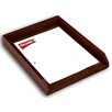 Dacasso 1000 Series Classic Leather Front-Load Letter Tray in Mocha