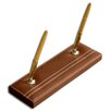 Dacasso 3200 Series Leather Double Pen Stand in Rustic Brown