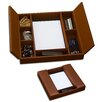 Dacasso 3200 Series Leather Conference Room Organizer in Rustic Brown