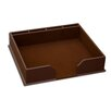 Dacasso 1000 Series Classic Leather Conference Pad Holder in Chocolate Brown