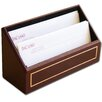 Dacasso 5000 Series 24kt Gold Tooled Leather Letter Holder in Burgundy