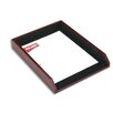 Dacasso 7000 Series Contemporary Leather Front-Load Letter Tray in Burgundy
