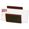 Dacasso 8000 Series Rosewood and Leather Letter Holder