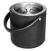 Dacasso 1000 Series Classic Leather Ice Bucket in Black