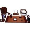 Dacasso 16 Piece Leather Desk Set
