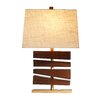 """Ziqi Home Wood Wonder 30"""" H Table Lamp with Rectangular Shade"""