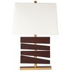 "Ziqi Home Wood Wonder 30"" H Table Lamp with Rectangular Shade"