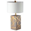 "Ziqi Home Wood Wonder ITO Tree 29"" H Table Lamp with Drum Shade"
