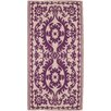 Ian Snow Decorative Purple Area Rug