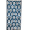 Ian Snow Decorative Blue Area Rug