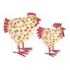 Ian Snow 2-tlg. Figuren-Set Getupfte Hühner
