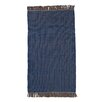 Ian Snow Handgewebter Teppich in Blau