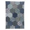 Ian Snow Hand-Woven Blue Area Rug