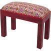 Ian Snow Wooden Stool with Embroidered Seat