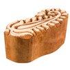 Ian Snow Decorative Wooden Carved Paisley Print Block