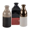 Ian Snow 3 Piece Two-Tone Earthenware Decorative Bottle Set