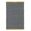 Ian Snow Black / White / Yellow Area Rug