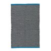 Ian Snow Black / Blue Area Rug