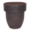 Grosfillex Commercial Resin Furniture Toledo Round Pot Planter (Set of 4)