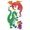 Jillson & Roberts Bulk Roll Prismatic Dragon Sticker