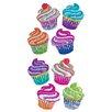 Jillson & Roberts Bulk Roll Prismatic Mini Cupcake Sticker