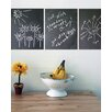 WallCandy Arts Chalkboard Wall Decal (Set of 3)