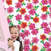 "WallCandy Arts French Bull 2.17' x 26"" Rose Floral Wallpaper"