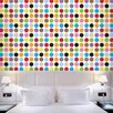 "WallCandy Arts French Bull 2.17' x 26"" Mini Polka Dot Wallpaper"