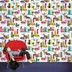 "WallCandy Arts French Bull City 2.17' x 26"" Scenic Wallpaper"
