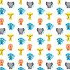 "WallCandy Arts French Bull 2.17' x 26"" Jungle Wildlife Wallpaper"