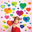 WallCandy Arts Just for Fun Overlapping Hearts Wall Decal