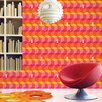 "WallCandy Arts 2.17' x 26"" Tumbling Bunnies Geometric Wallpaper"