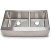 """Hahn Chef Series 35.88"""" x 20.75"""" 60/40 Double Bowl Kitchen Sink"""