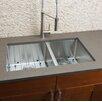 """Hahn 32"""" x 19"""" Double Bowl Kitchen Sink"""