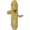 Heritage Brass Savoy Lever Lock in Everbrite (Set of 2)