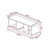 Epoch Design Brookwood Wooden Storage Entryway Bench