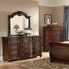 Woodhaven Hill Hillcrest Manor 12 Drawer Dresser with Mirror