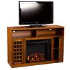 Woodhaven Hill Lipan TV Stand with Electric Fireplace