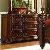 Woodhaven Hill 1390 Series 9 Drawer Dresser with Mirror